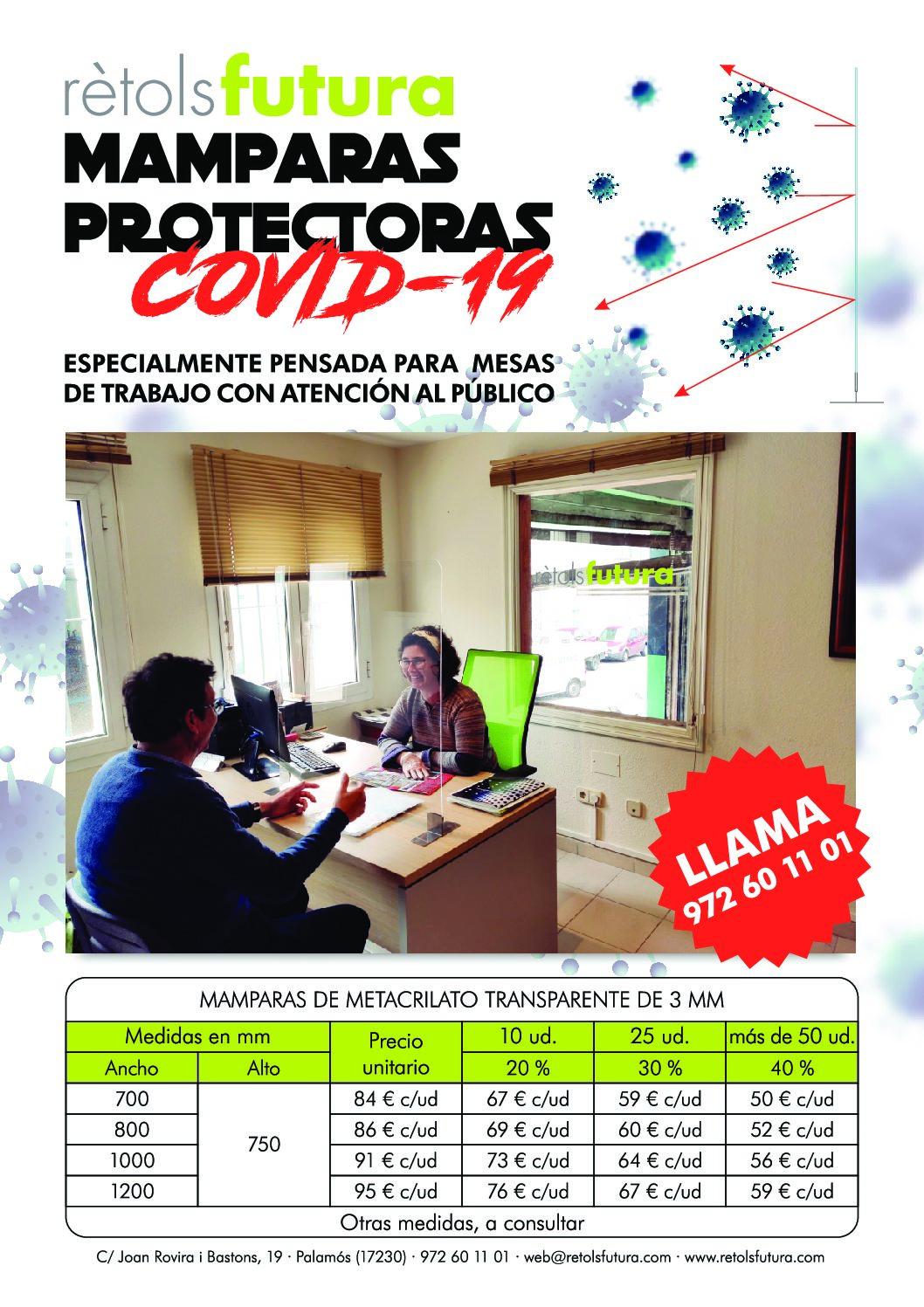 Mamparas Protectoras Covid19