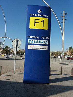 Tótems Port de Barcelona